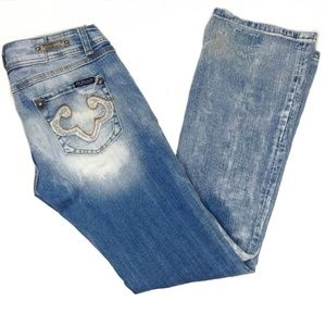 Rerock for Express distressed boot cut jeans 8